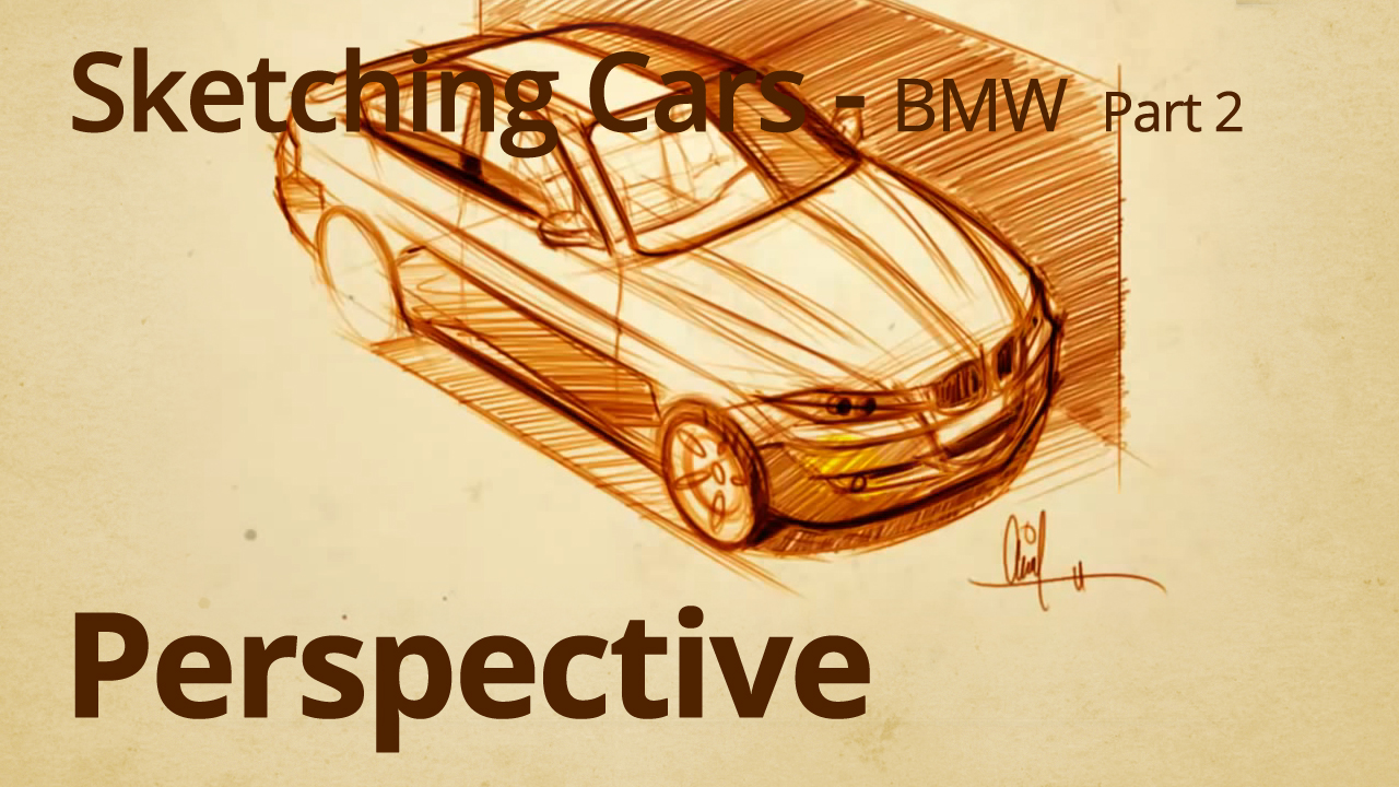Drawing a BMW 3 series Part 2