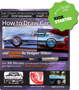 How to Draw Cars Now: Analog vd Digital Drawing Techniques DVD