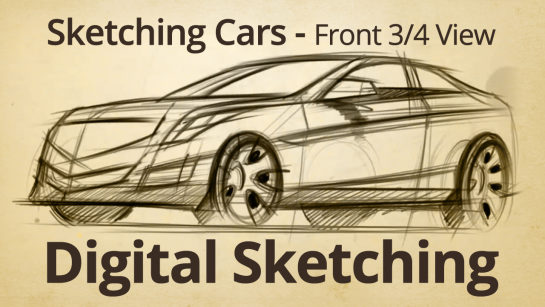 Digital Sketching: Front 3 quarter View Sketch