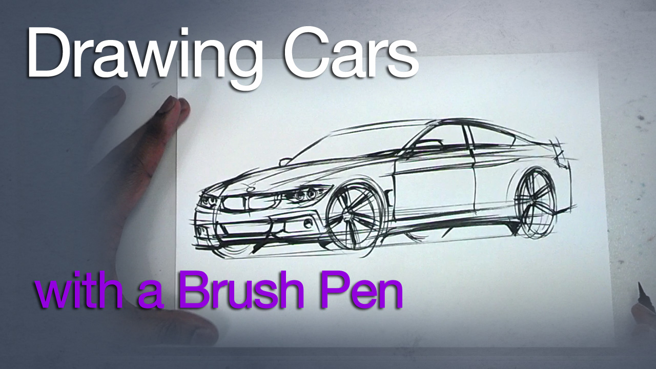 Sketching: Drawing Awesome BMW Cars with a Brush Pen