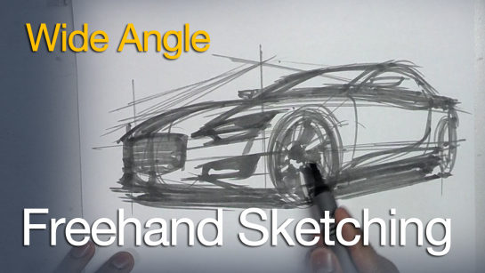 Freehand Sketching – Wide Angle Car Sketch