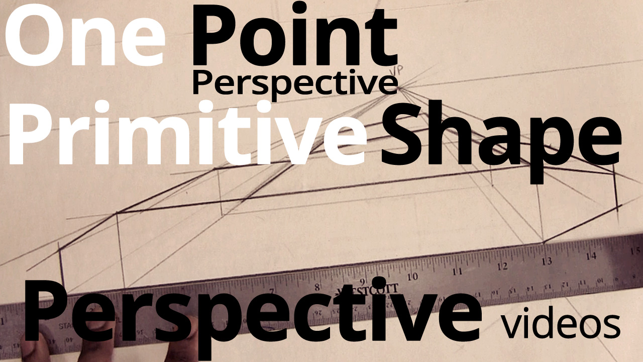 Drawing in Perspective – One Point Perspective Primitive Shapes