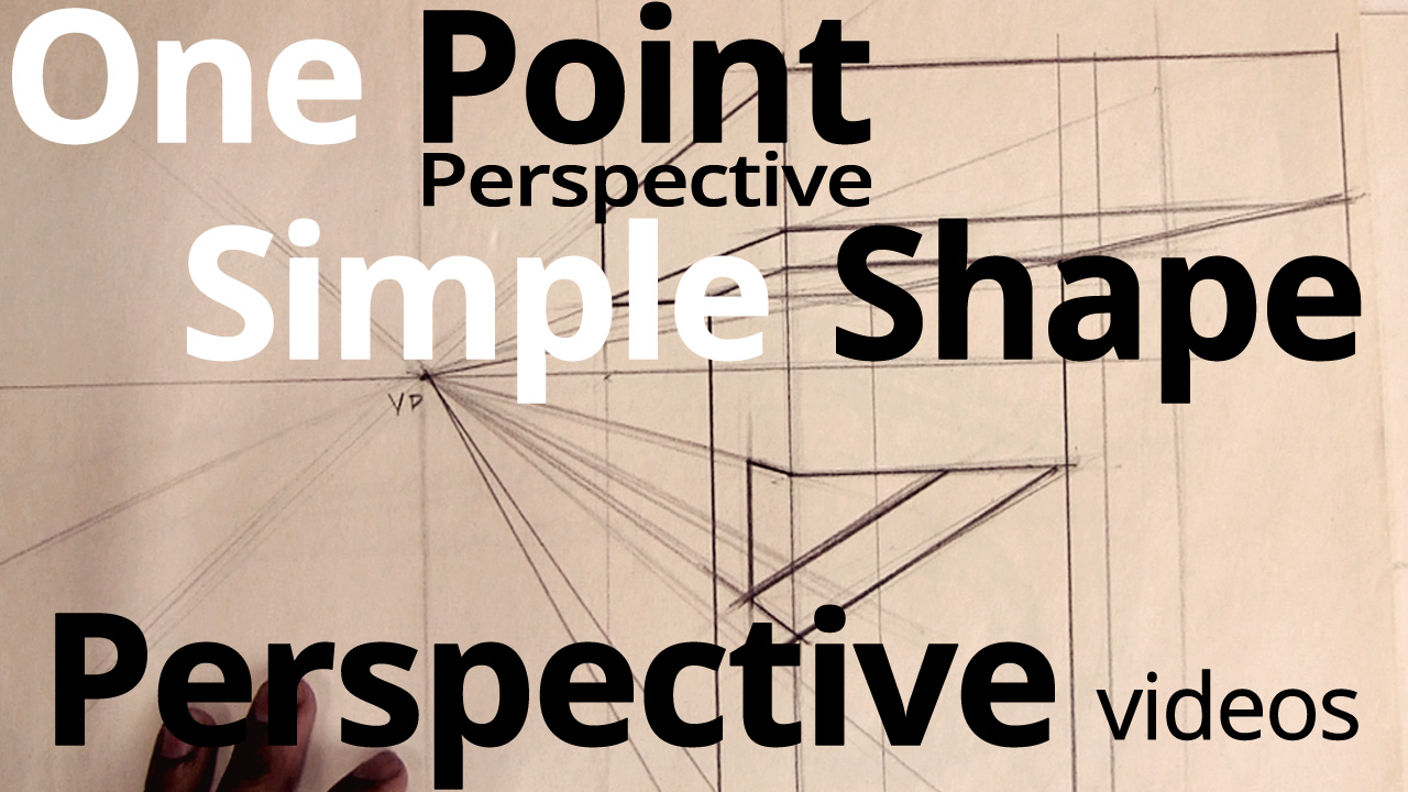One Point Perspective Simple Shapes
